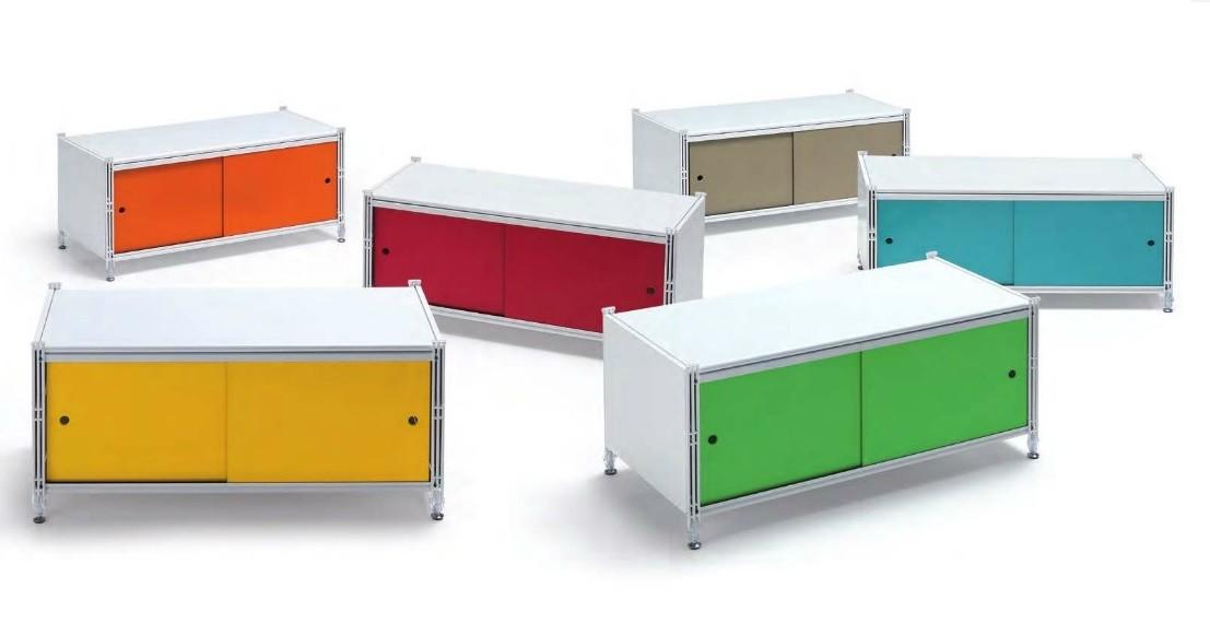 Libreria Ufficio Con Ante : Socrate contenitore con ante scorrevoli cassettiere e librerie