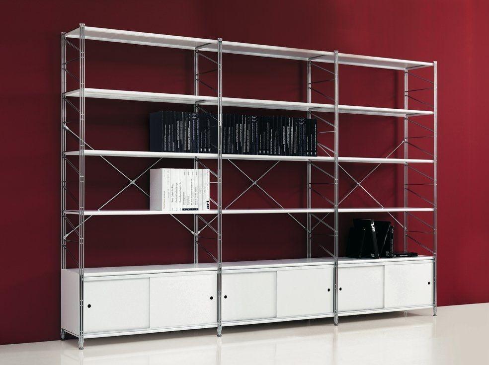 Socrate libreria con ante scorrevoli cassettiere e librerie