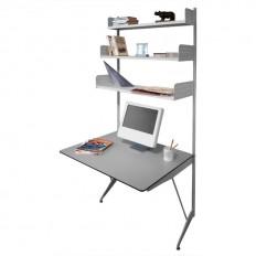 TRIESTE Libreria in acciaio con scrivania