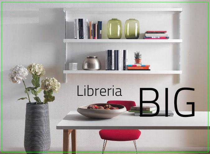 Libreria a parete con mensole BIG