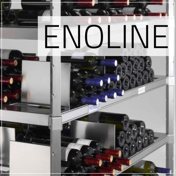 Scaffalatura acciaio inox per vini Enoline