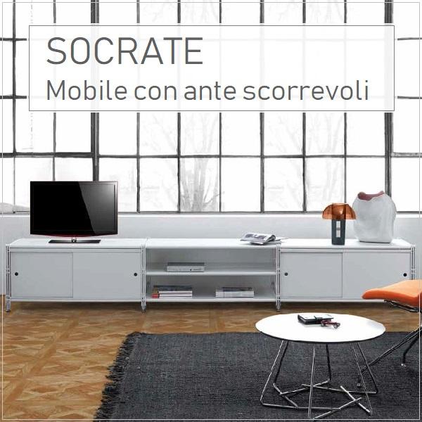 Socrate mobile con ante scorrevoli